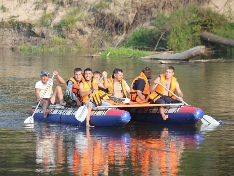 сплав на катамаранах по реке Илеть